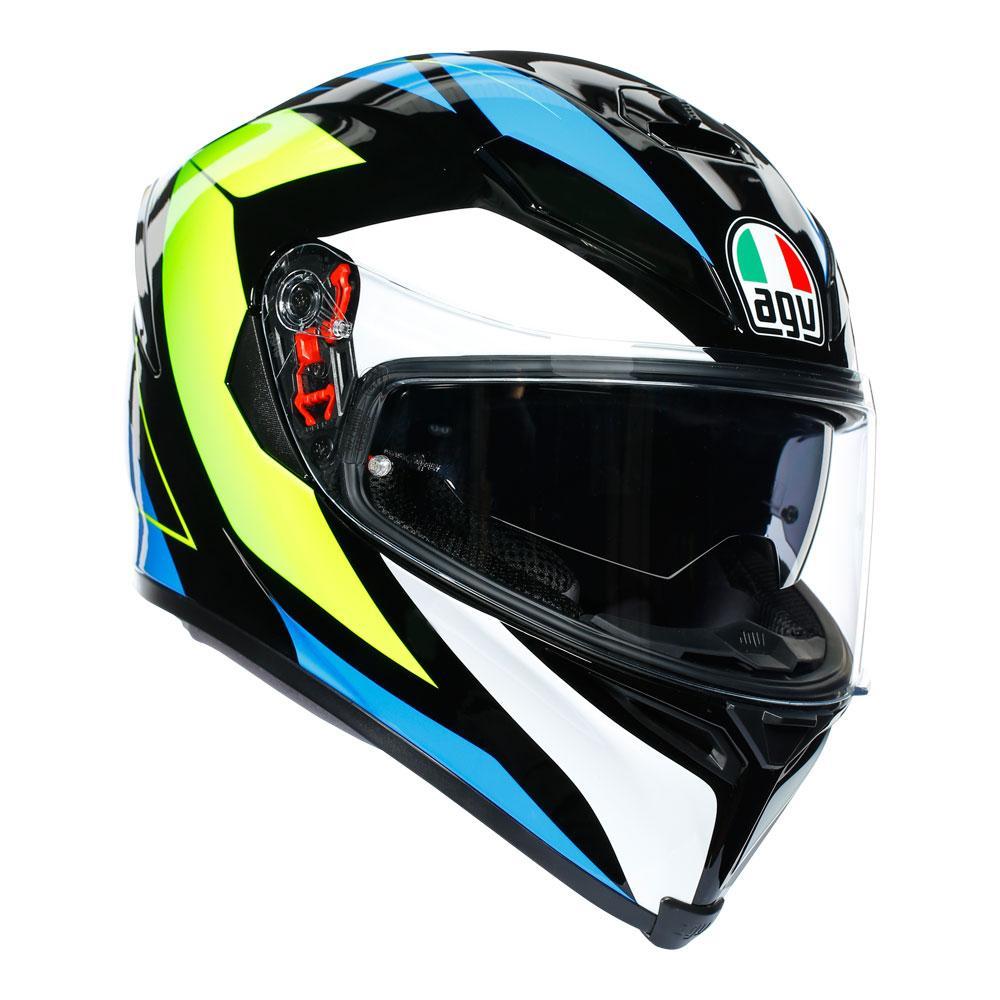 AGV K5 S Core Black/Cyan/Yellow Fluro Helmet