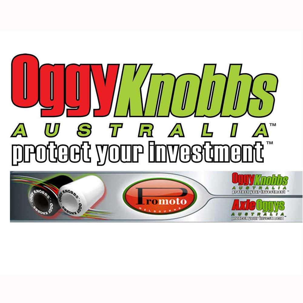 Oggy Knobbs BMW S1000RR 10-17 RH WHITE Replacement Knobb