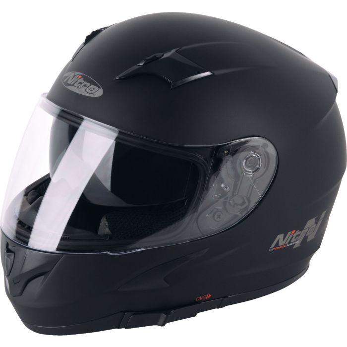 Nitro Youth N2300 Satin Black Helmet
