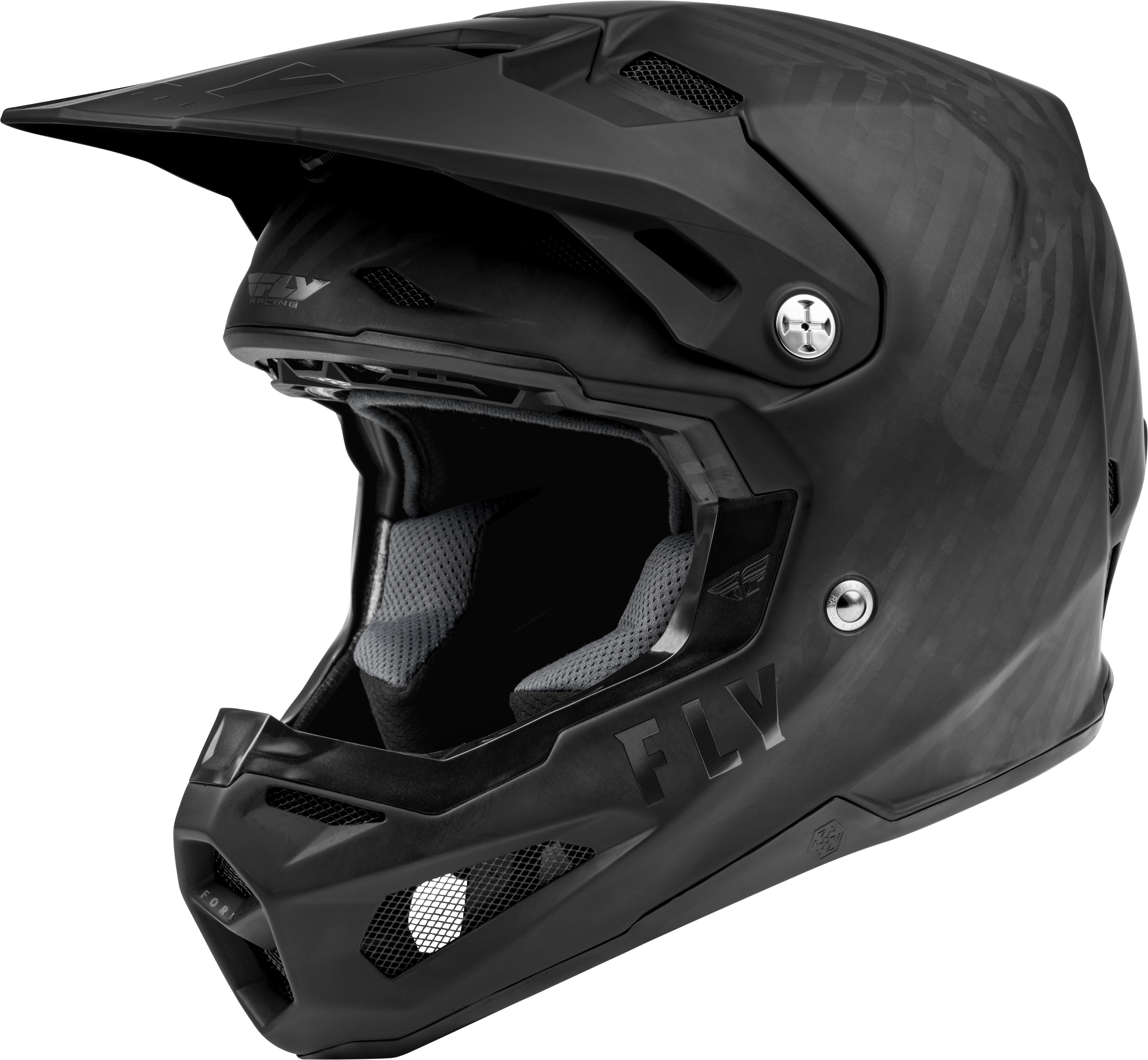 Fly Racing Youth Formula Carbon Matt Black Helmet