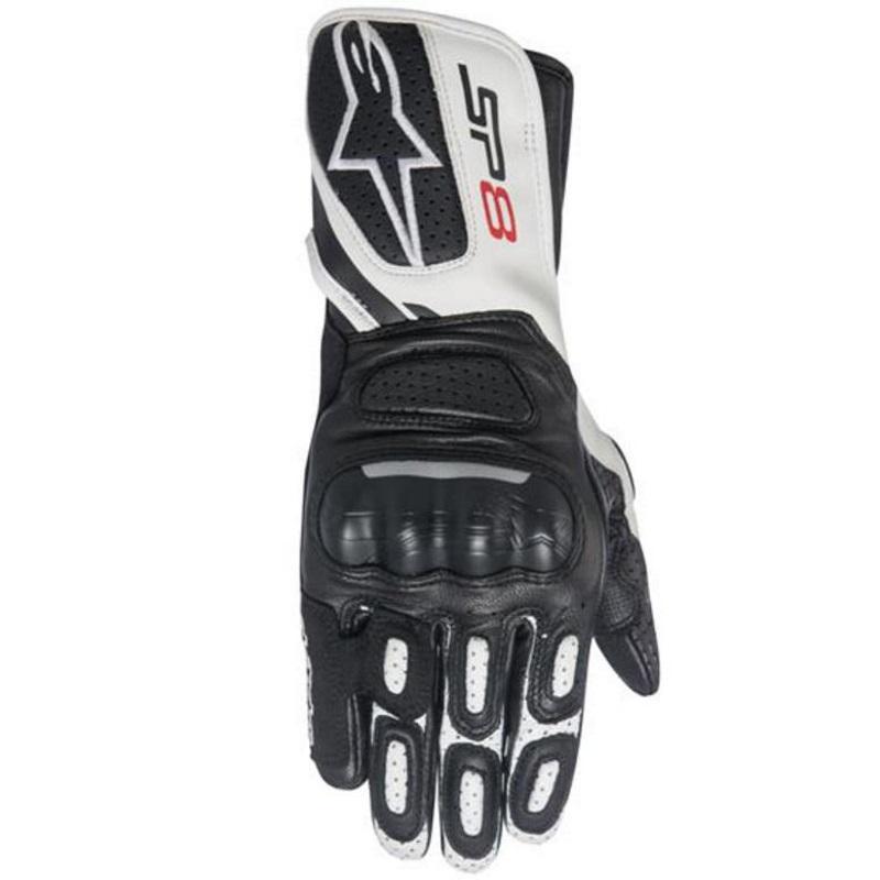 Alpinestars Women's SP-8 V2 Black/White Leather Gloves