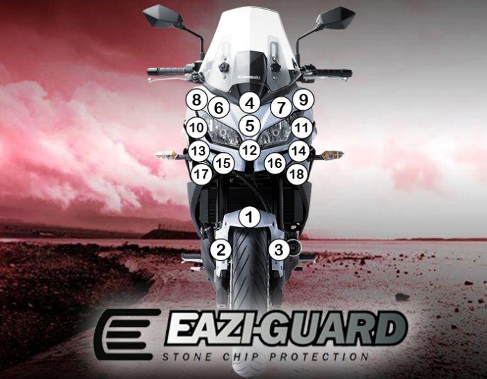 Eazi-Guard Kawasaki Versys 650 2015 - 2017 Gloss Paint Protection Film