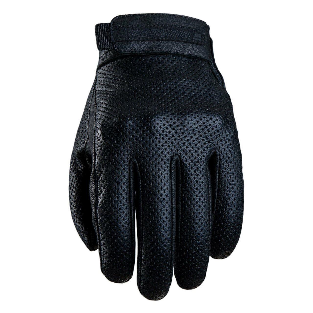 Five Mustang Vented Black Gloves