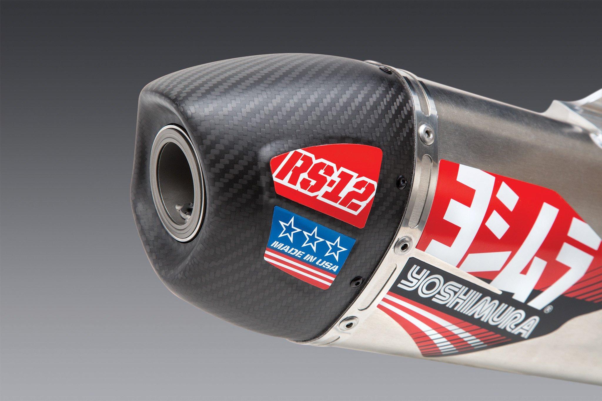 Yoshimura RS-12 KTM 500 EXC-F (2020-2021) / Husqvarna FE 501S (2020-2021) Stainless Full Exhaust/Aluminum Muffler