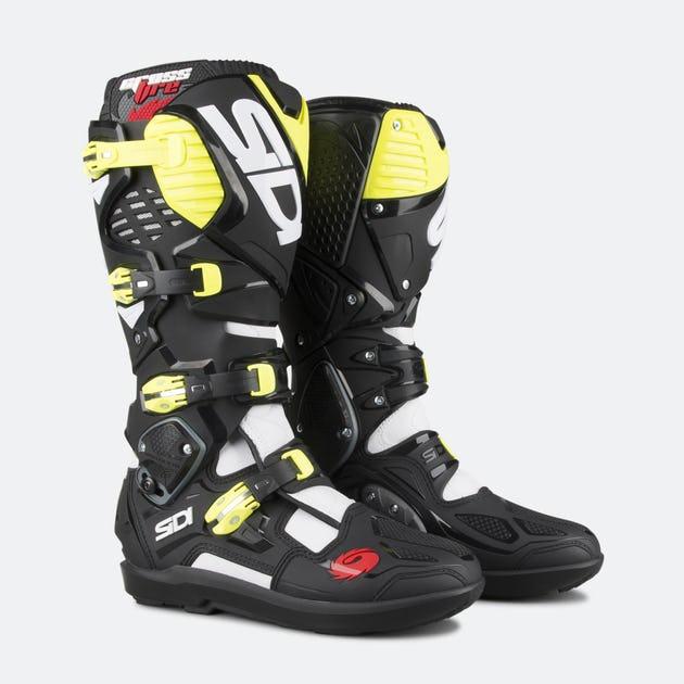 Sidi Crossfire 3 White/Black/Yellow Boots
