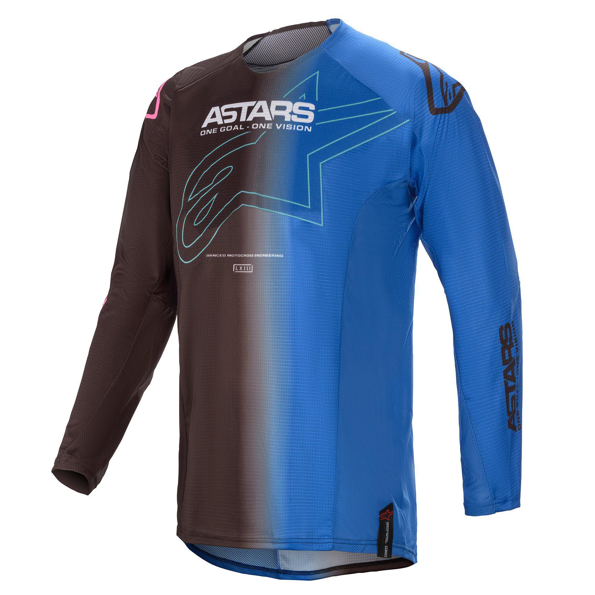 Alpinestars 2021 Techstar Phantom Black/Blue Jersey