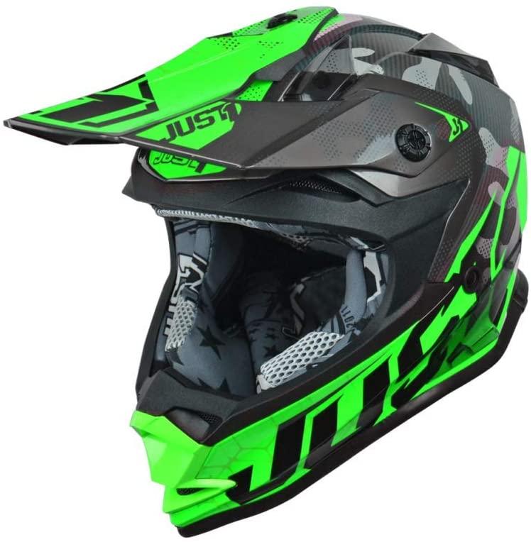 Just1 J32 Youth Swat Camo Fluo Green Gloss Helmet