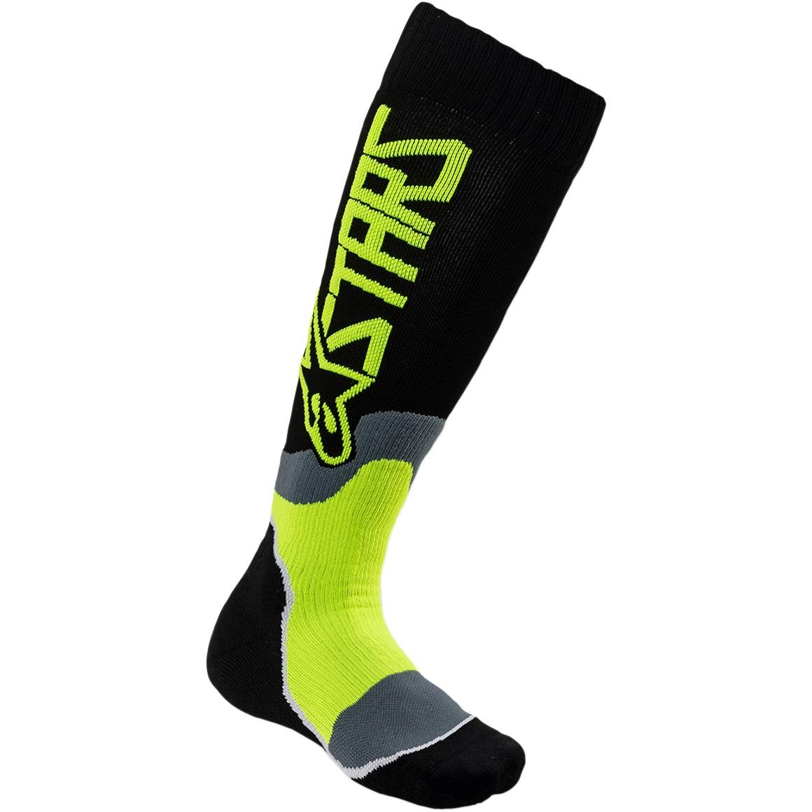 Alpinestars Youth MX Plus-2 Black/Yellow Fluo Socks