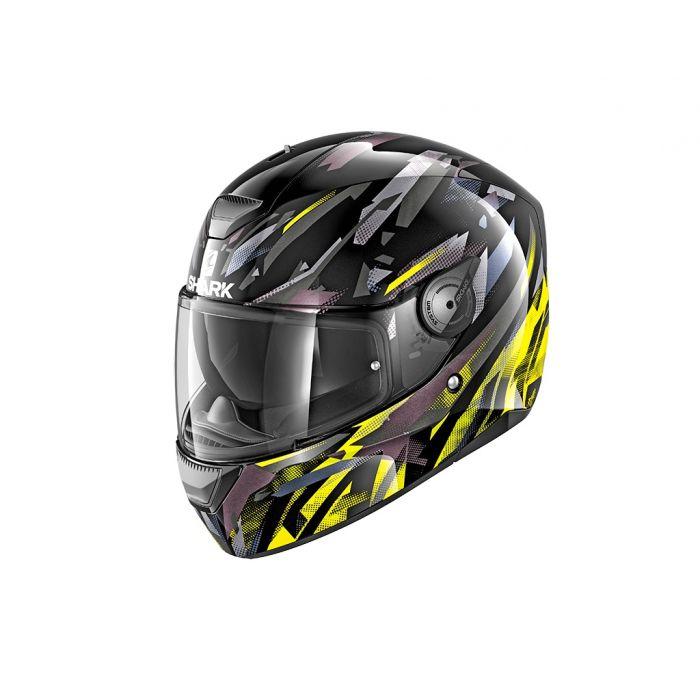 Shark D-Skwal ECE Kanhji Black/Yellow/Anthracite Helmet