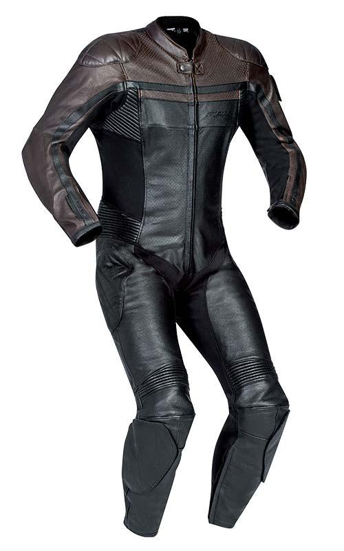Ixon Legendary Black/Brown One Piece Leather Suit