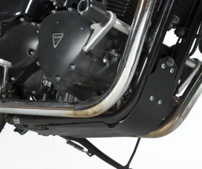 R&G Triumph Thruxton 900 Black Bash Plate