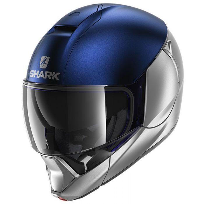 Shark EVOJET Dual Silver/Blue Helmet