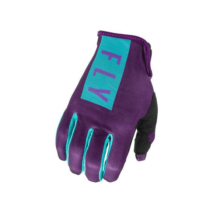 Fly Racing Women's Lite Purple/Blue Gloves
