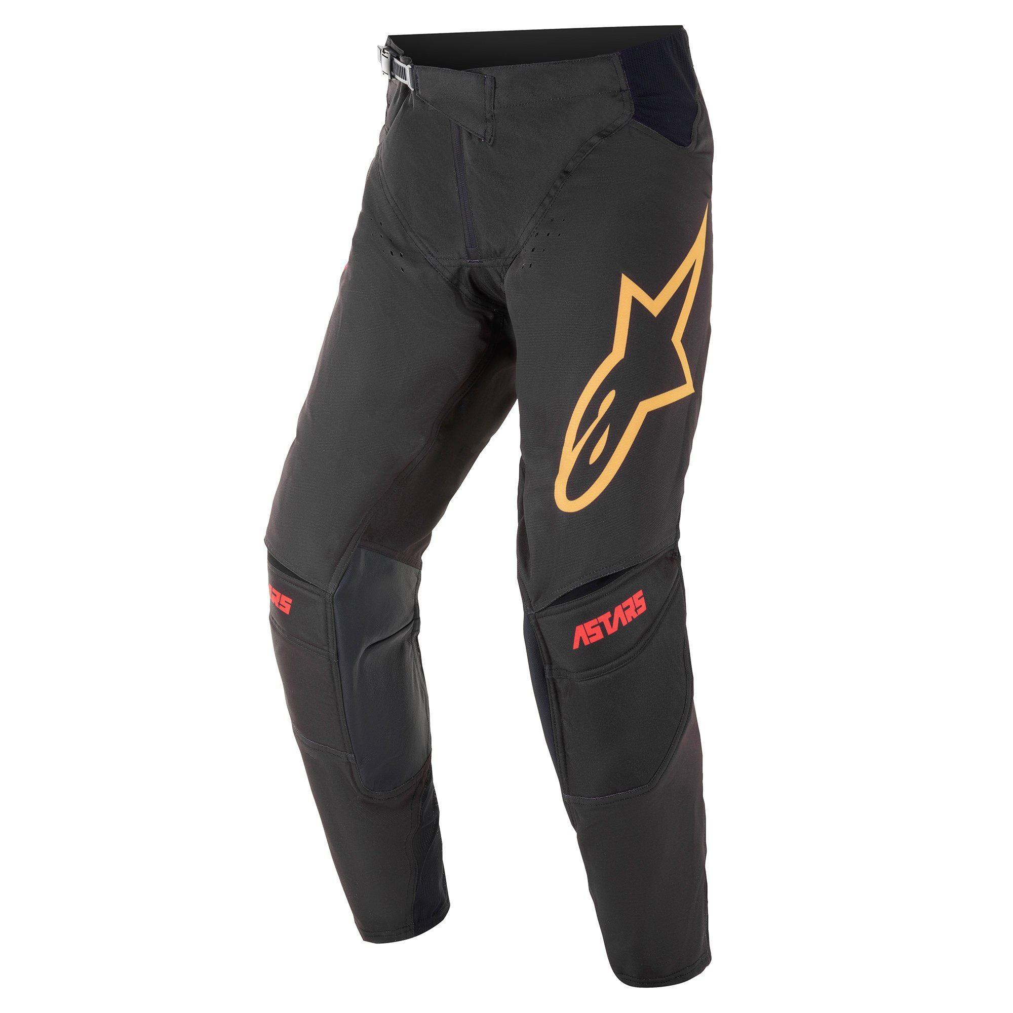 Alpinestars 2021 Techstar Venom Black/Bright Red/Orange Pants