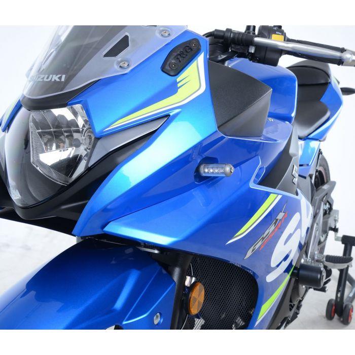 R&G Suzuki GSX250R Front Black Indicator Adapters