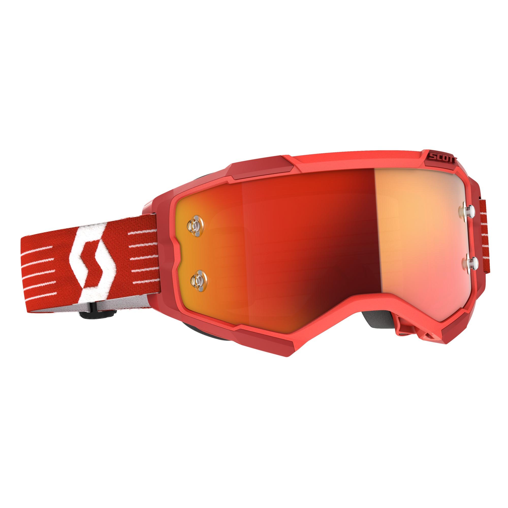 Scott Fury Bright Red / Orange Chrome Works Goggle