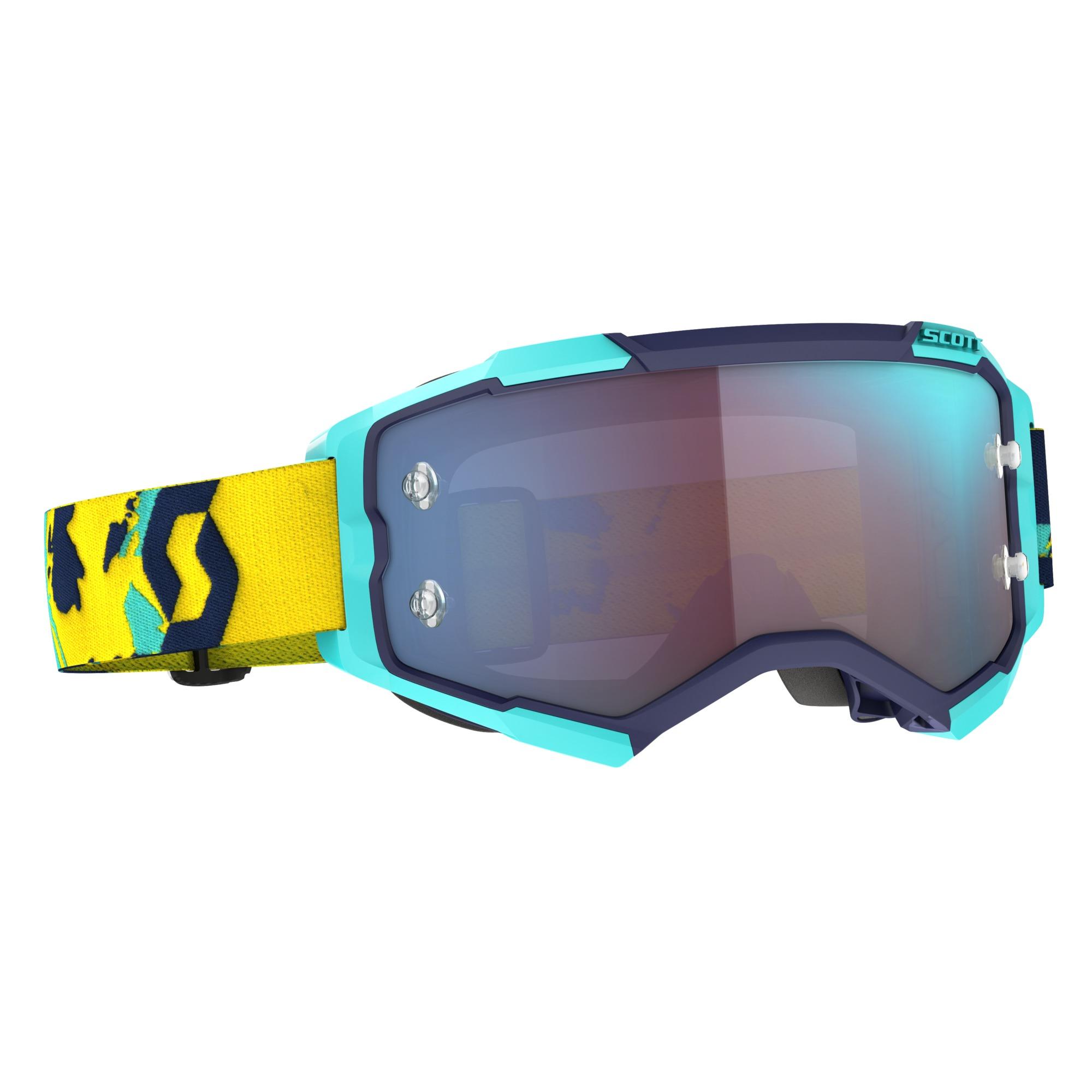 Scott Fury Blue/Orange / Blue Chrome Works Goggle