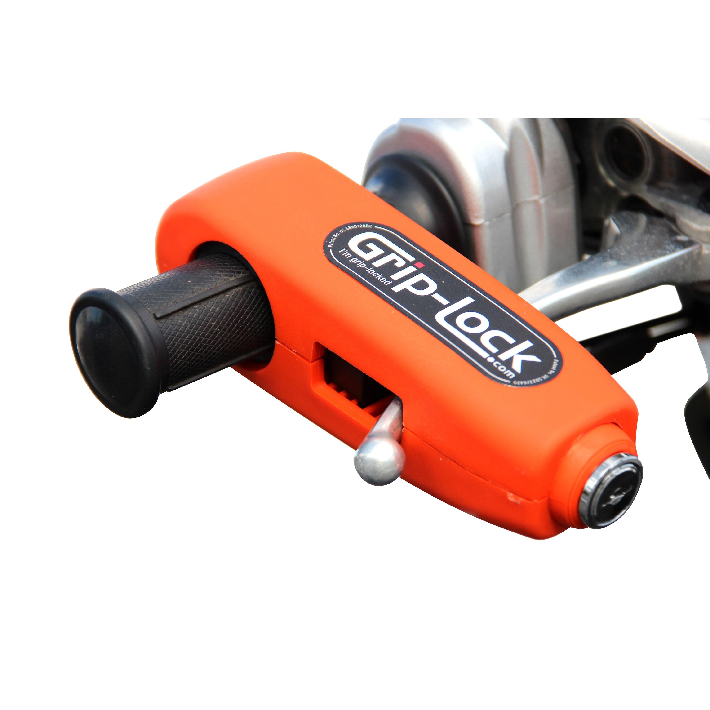 Grip Lock Orange Handle Bar Lock