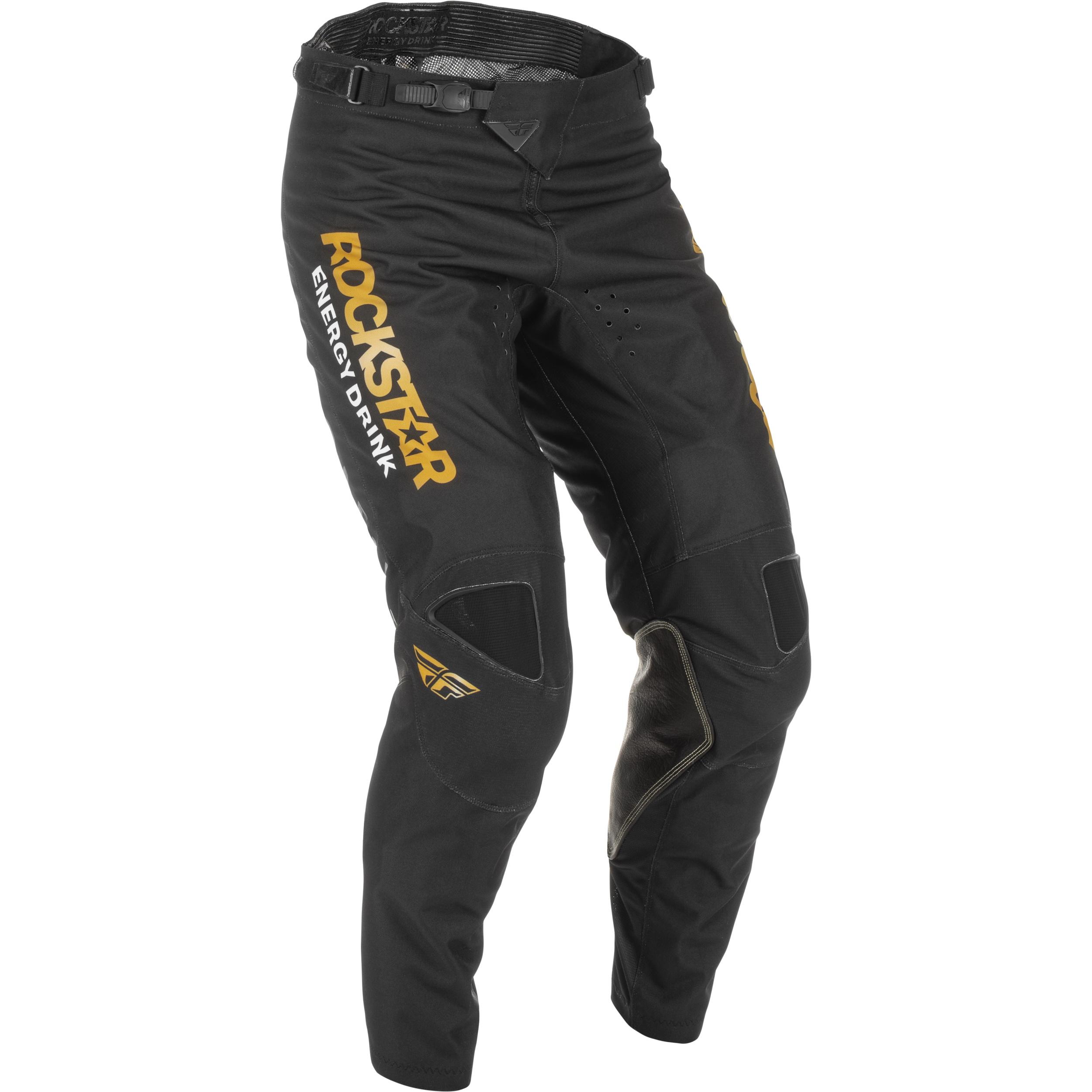 Fly Racing 2022 Kinetic Rockstar Black/Gold Pants