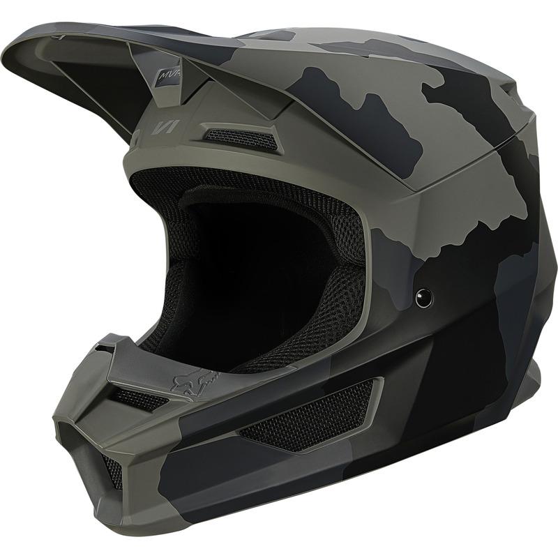 Fox Racing Youth V1 Trev Black Camo MX Helmet