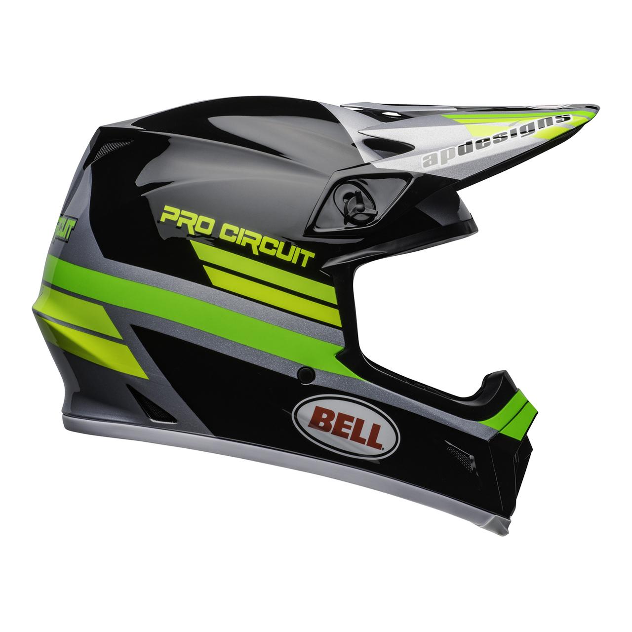 Bell MX-9 MIPS PC 2020 Black/Green Helmet