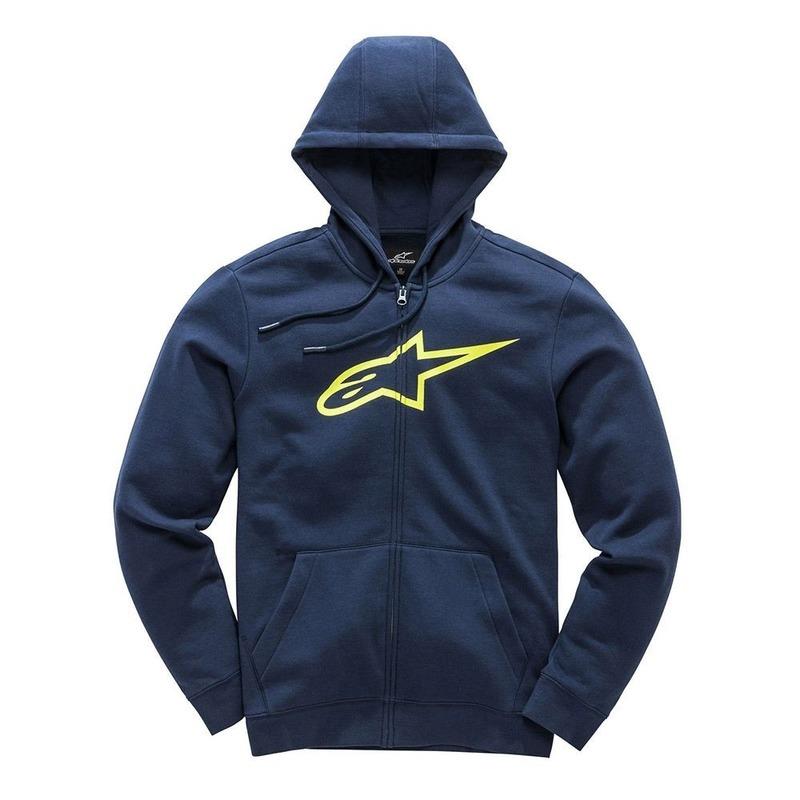 Alpinestars Ageless II Navy/Yellow Zip Fleece Hoodie