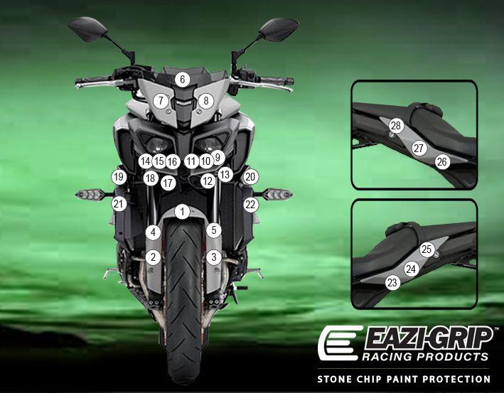 Eazi-Guard Yamaha MT-10 2020 Gloss Paint Protection Film
