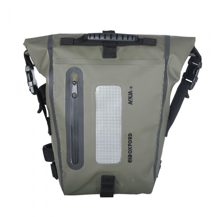 Oxford Aqua T8 Khaki/Black Tail Bag