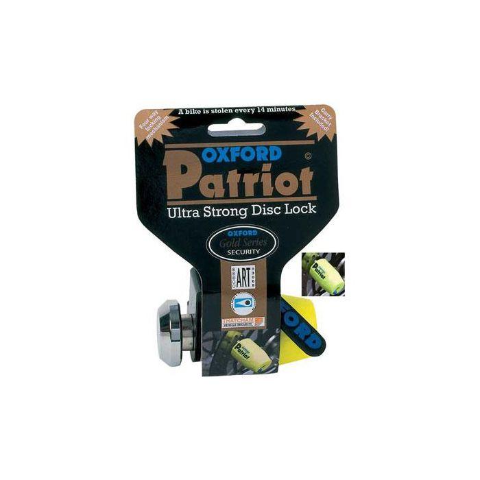Oxford Patriot Yellow Disc Lock