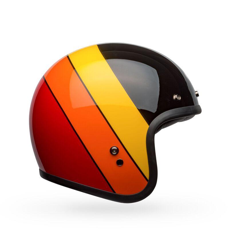 Bell Custom 500 Riff Black/Yellow/Orange/Red Helmet