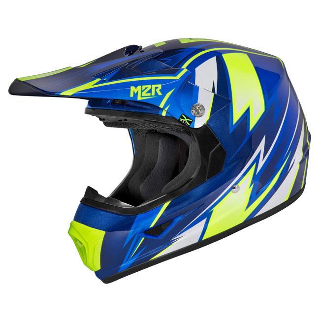 M2R XYouth Thunder Blue PC-2 Helmet
