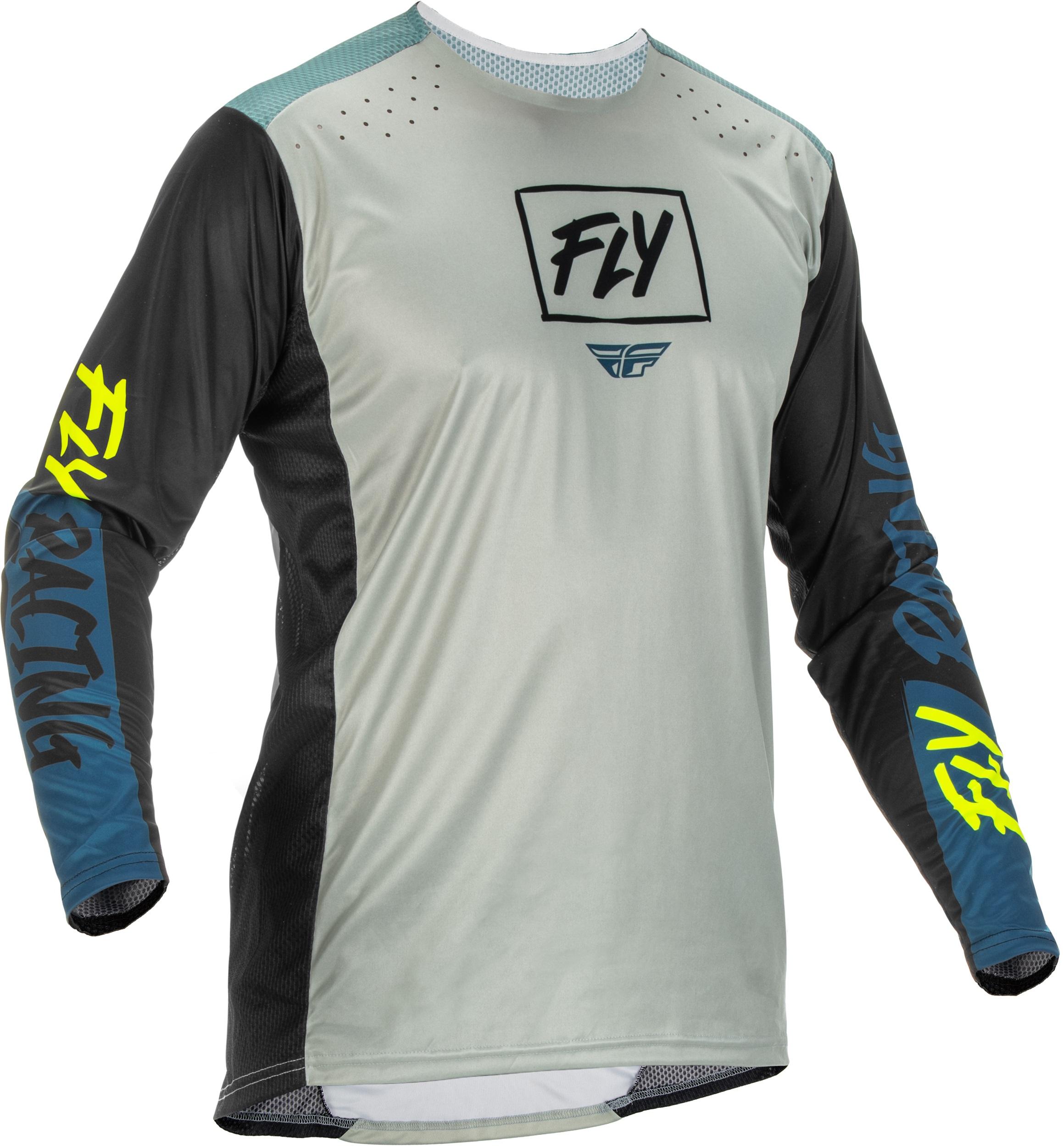 Fly Racing 2022 Lite Grey/Teal/Hi-Vis Jersey