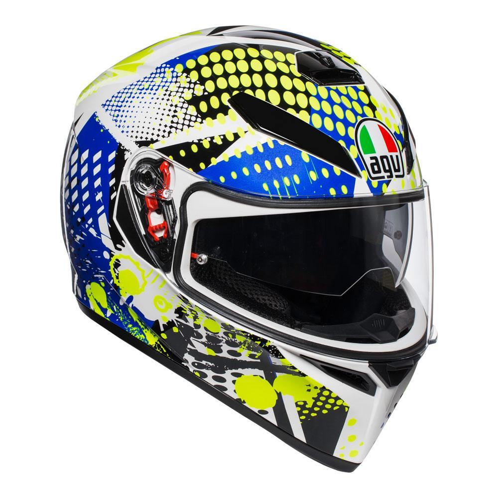 AGV K3 SV Pop White/Blue/Lime Helmet