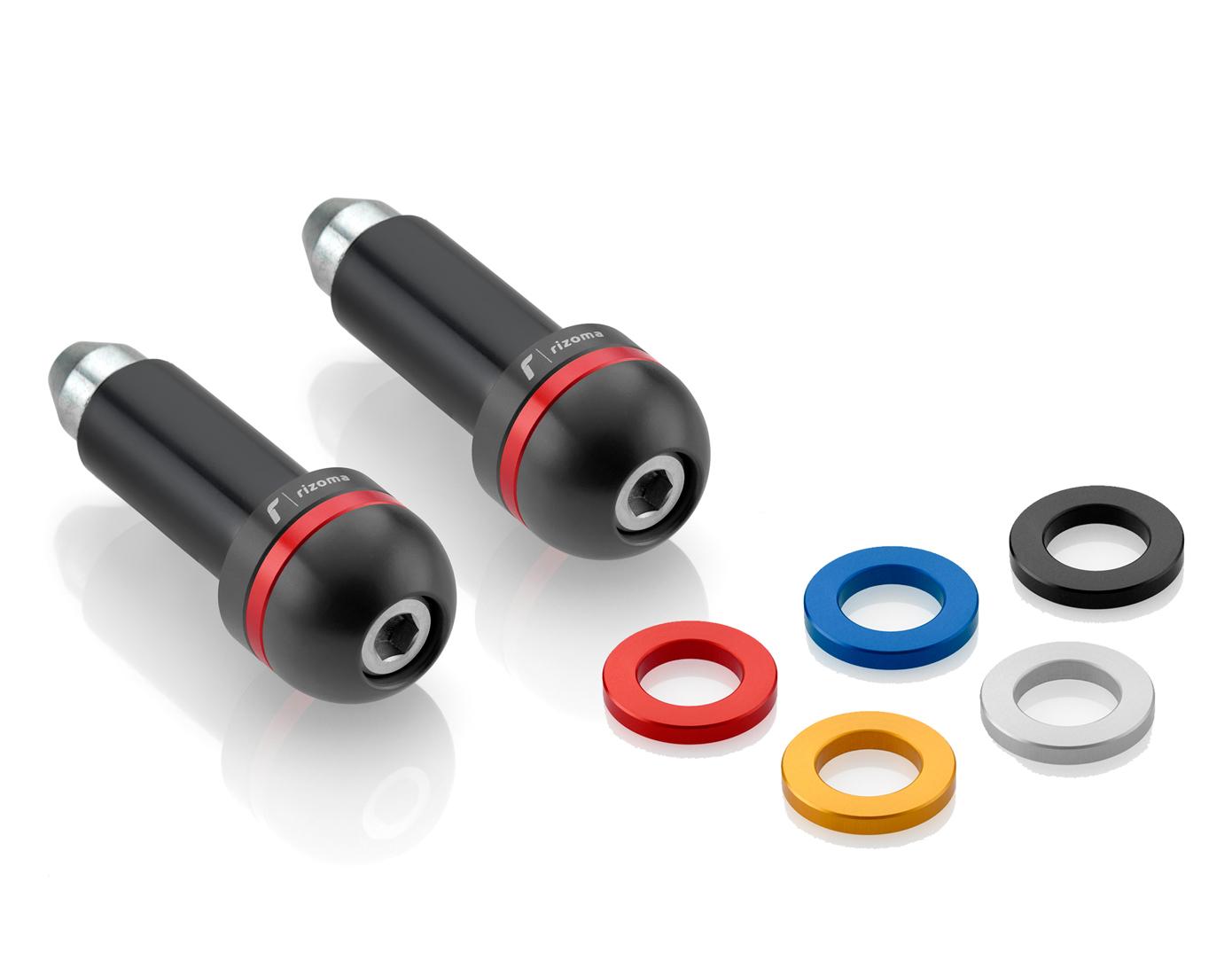 Rizoma Switch 22mm Handlebars Black Bar Ends