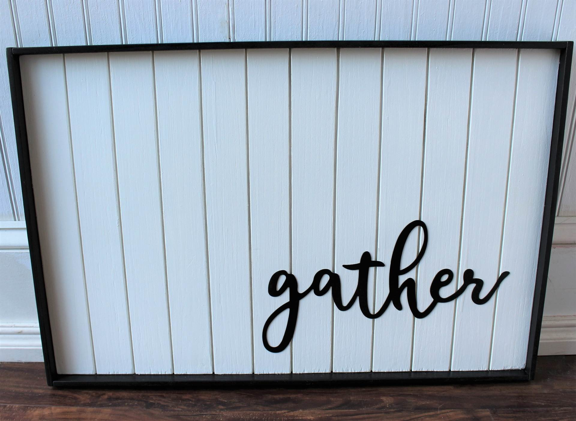 Image of Framed Gather Painted