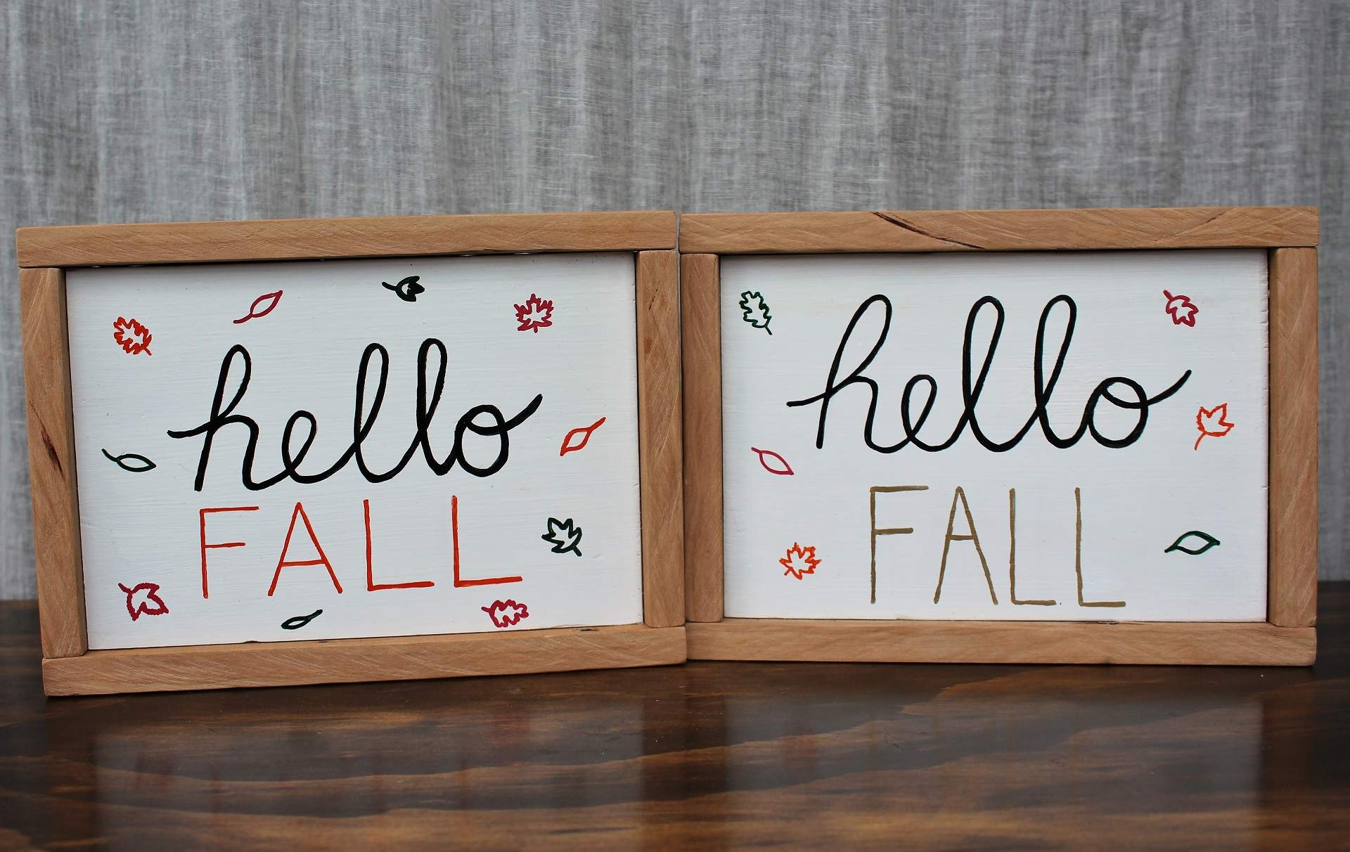 Image of Hello Fall Signs