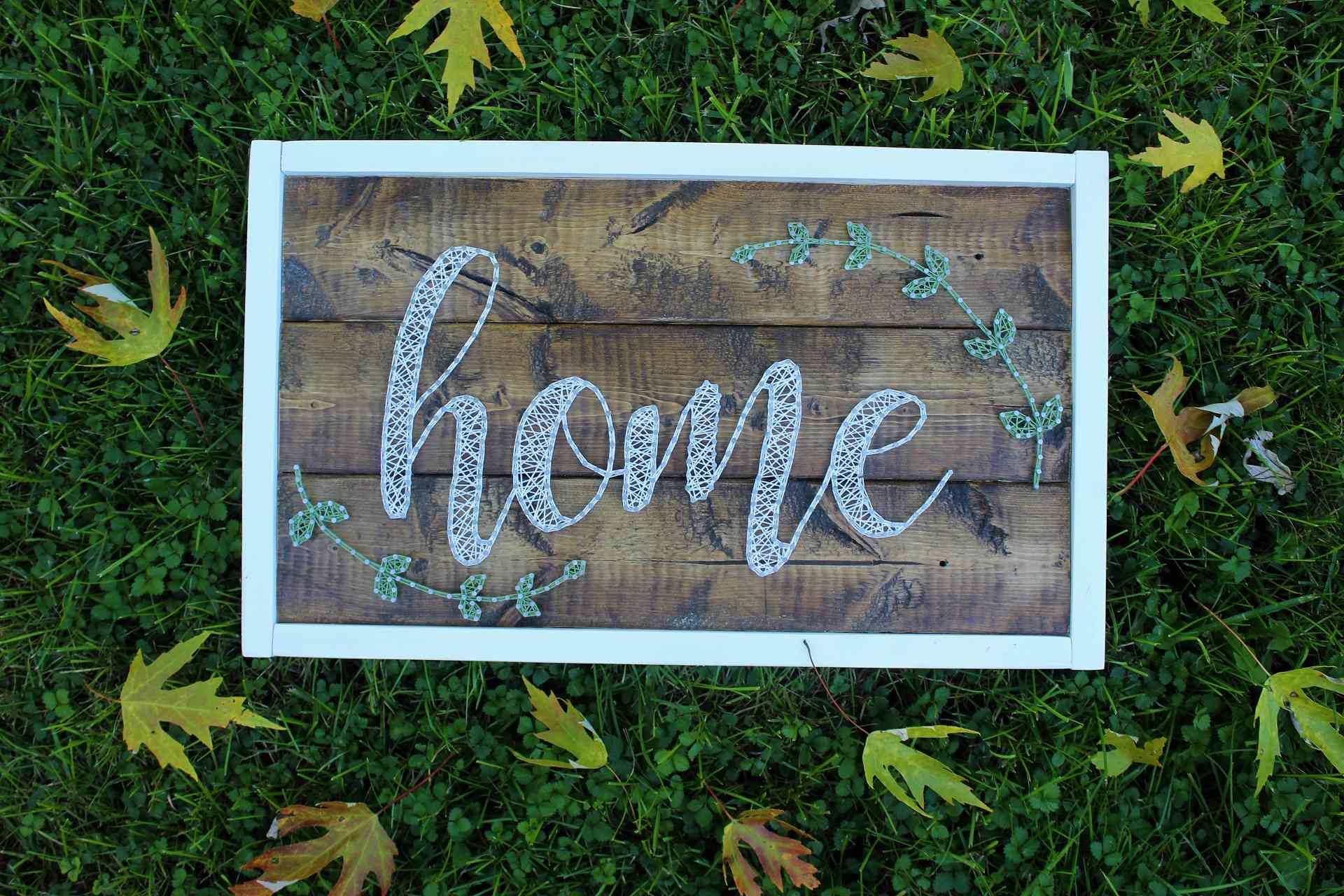 Image of Framed Home Sign