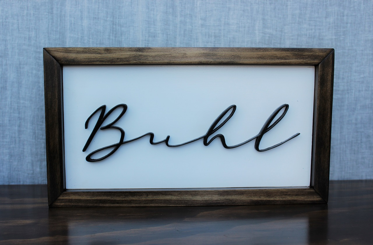 Image of Last Name Sign