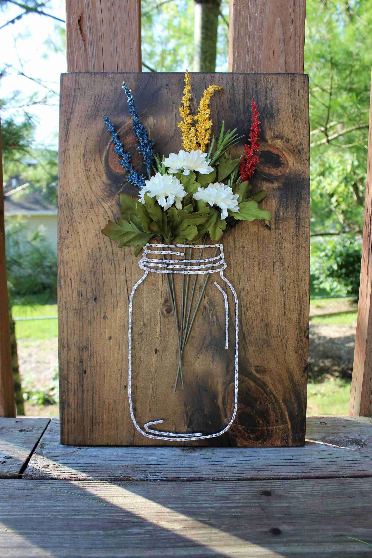 Image of Mason Jar String Art