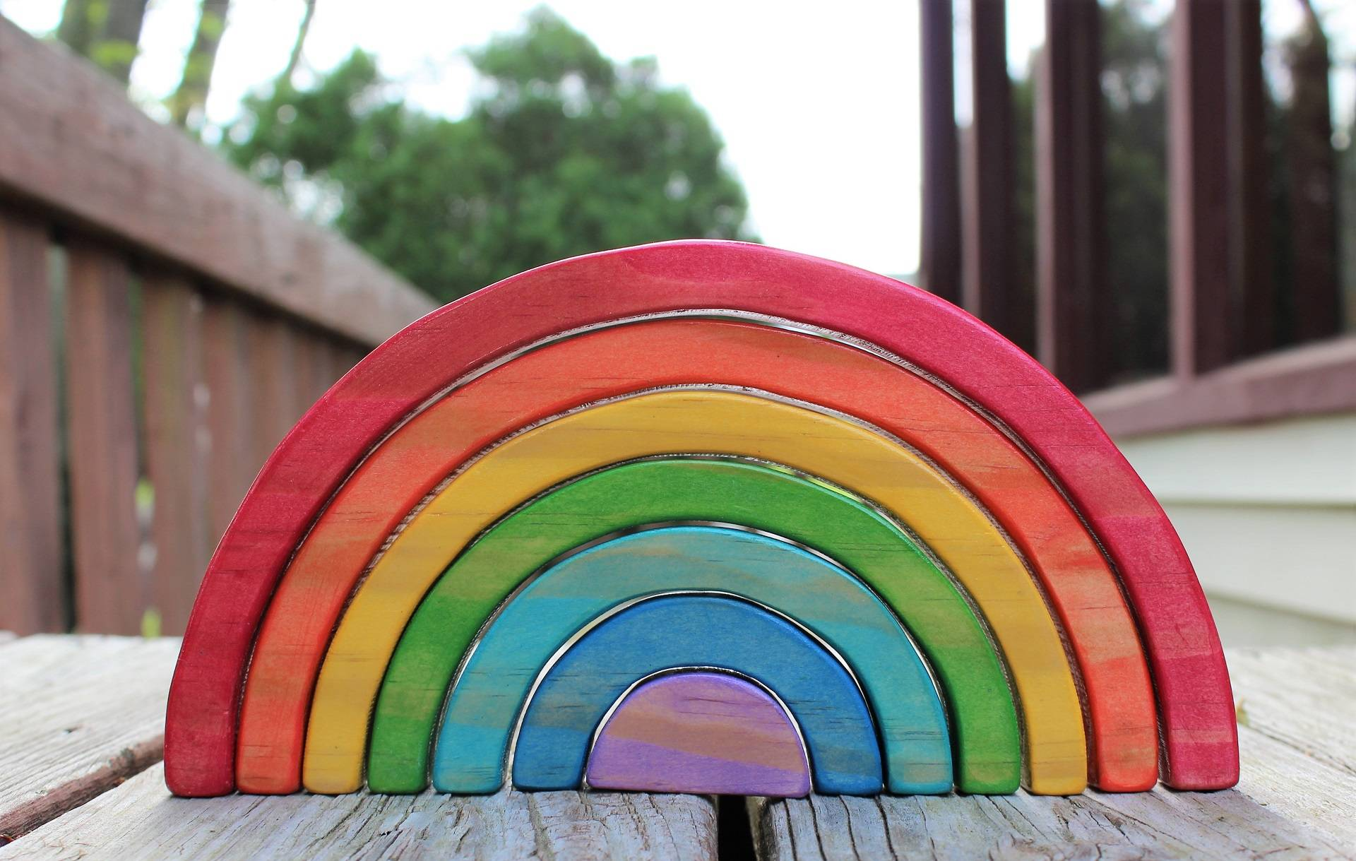 Image of Painted Stacking Rainbow