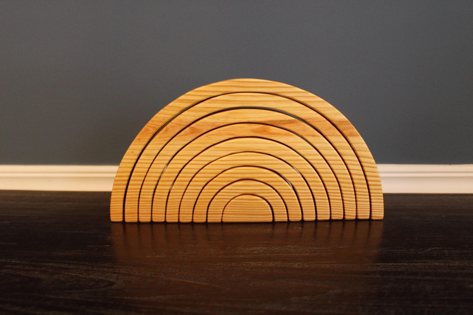 Image of Wooden Stacking Rainbow