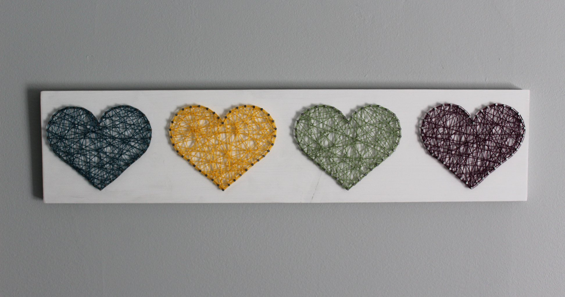 Image of String Art Hearts
