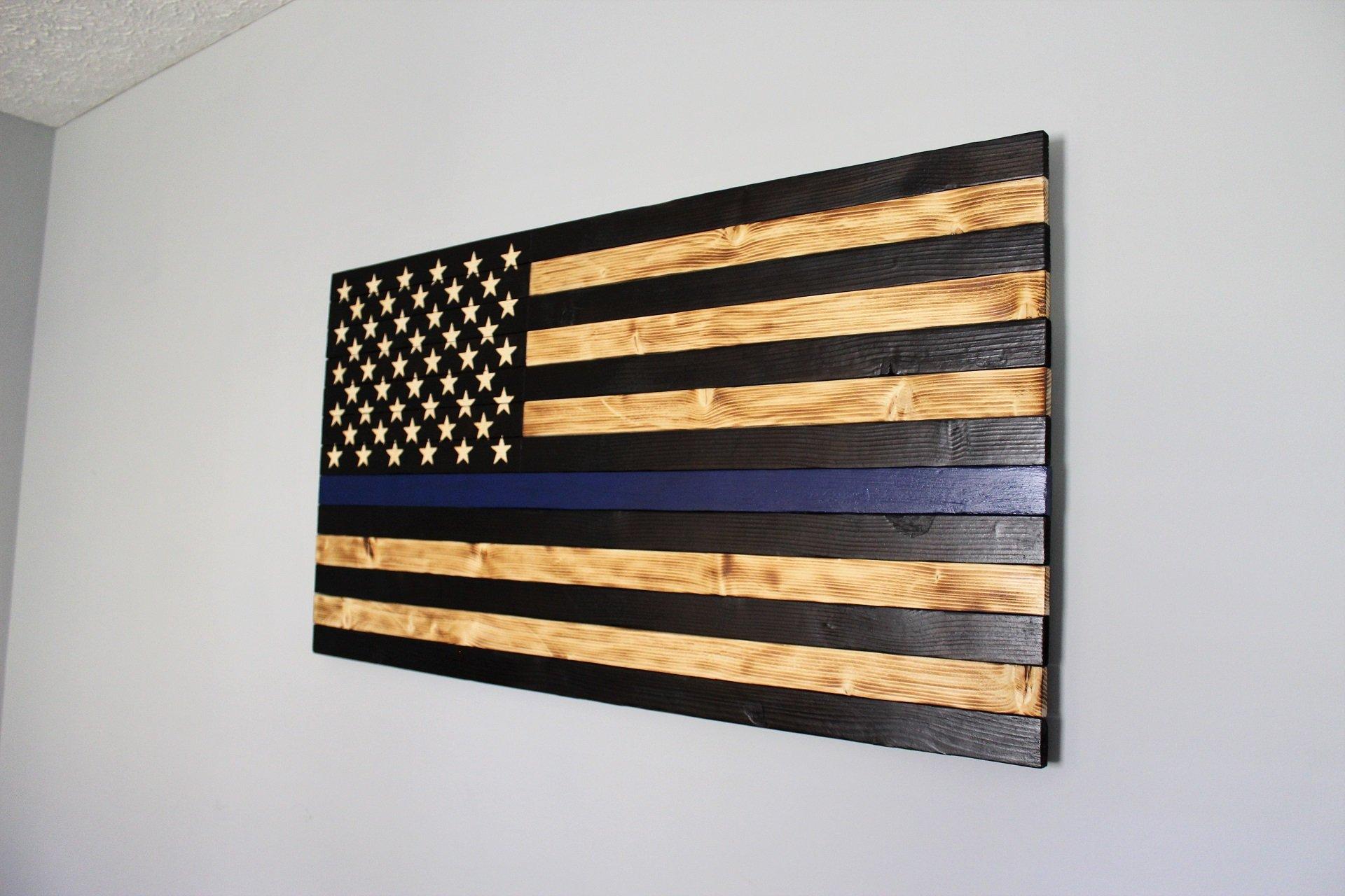 Image of Large Thin Blue Line Flag