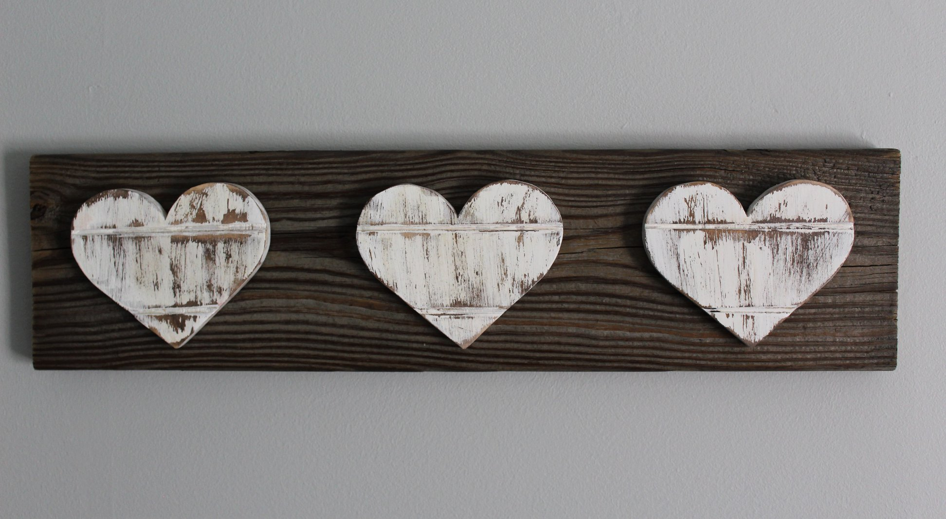 Image of Three Wooden Hearts