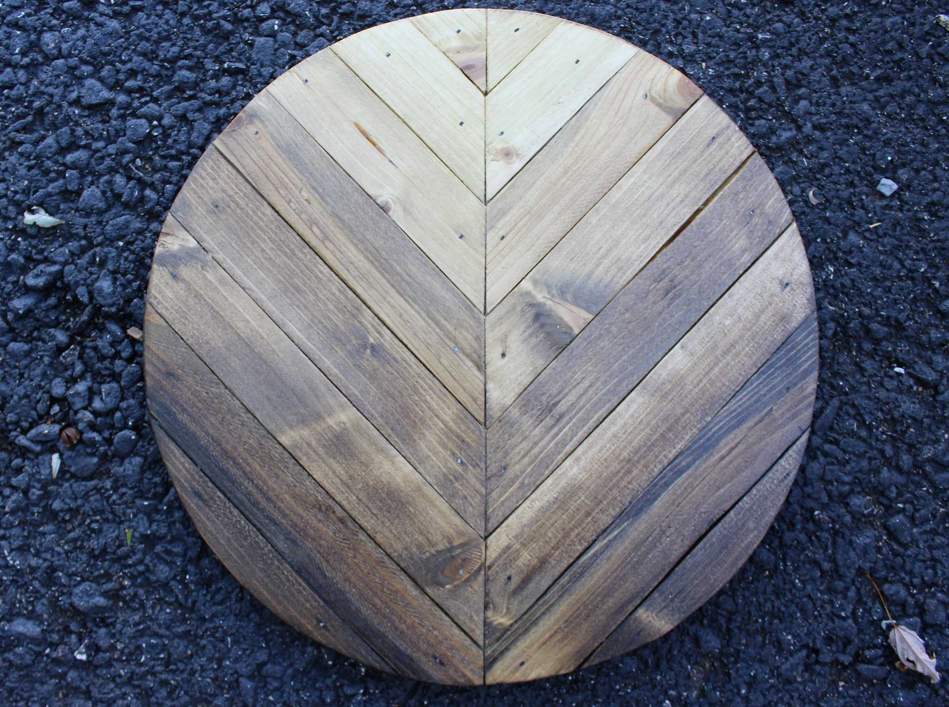 Image of Wooden Round - Stain Ombre