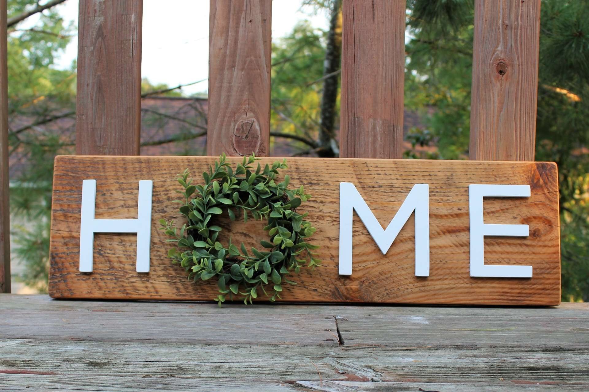 Image of Wreath Home Sign