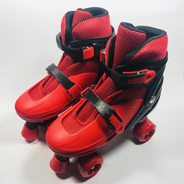 Giày patin 4 bánh Inline đỏ hình 1