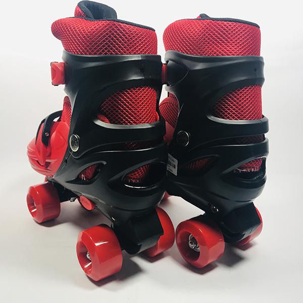 Giày patin 4 bánh Inline đỏ hình 2