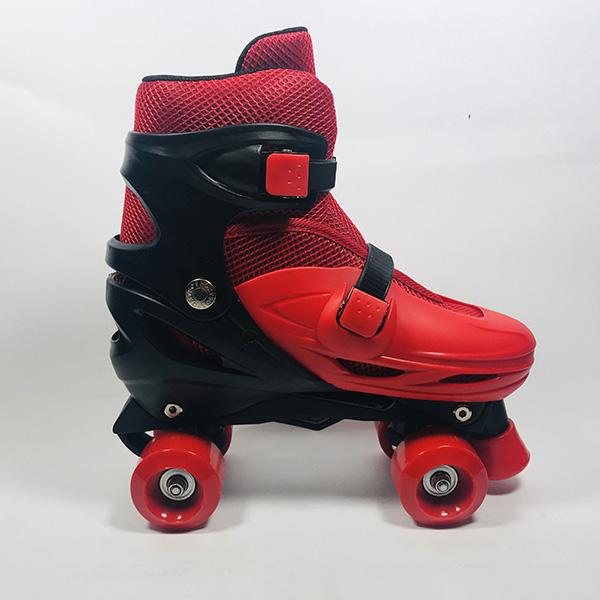 Giày patin 4 bánh Inline đỏ hình 3