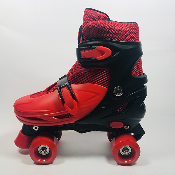 Giày patin 4 bánh Inline đỏ hình 4